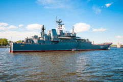 ST. PETERSBURG, RUSSIA - JULY 26, 2015:  Large landing ship Royalty Free Stock Photo