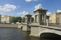 St. Petersburg, Lomonosov bridge Royalty Free Stock Photos