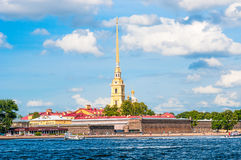 ST. PETERSBURG, RUSSIA - JULY 26, 2015: Peter and Paul Fortress Royalty Free Stock Photos