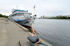 River cruise ships at the pier. Stock Images