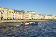 St. Petersburg, river Fontanka Stock Image