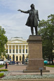 St. Petersburg, Russian museum and monument to Pushkin Stock Photos