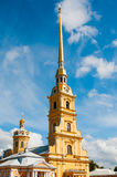 ST. PETERSBURG, RUSSIA - JULY 26, 2015: Spire of Peter and Paul Royalty Free Stock Photo
