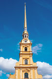 ST. PETERSBURG, RUSSIA - JULY 26, 2015: Spire of Peter and Paul Royalty Free Stock Images