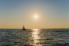 St. Petersburg, Russia, July 2018. Summer, sunset, good weather, sky and wind. royalty free stock images