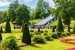 The Peterhof Palace included in the UNESCO``s World Heritage Lis Royalty Free Stock Photos