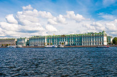 ST. PETERSBURG, RUSSIA - JULY 26, 2015: View of Winter Palace fr Stock Photos