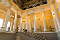 St. Petersburg, Russia - June 2 2017. Entrance to the Russian Museum of Emperor Alexander III Stock Image