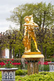 St. Petersburg, RUSSIA-JUNE 03, 2017. The fountain in the park of Petrodvorets Royalty Free Stock Images