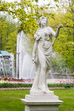 St. Petersburg, RUSSIA-JUNE 03, 2017. The fountain in the park of Petrodvorets Stock Photography