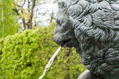 St. Petersburg, RUSSIA-JUNE 03, 2017. The fountain in the park of Petrodvorets Stock Photo