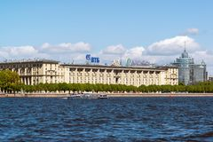 House of military seamen on Petrovskaya Embankment. St. Petersburg, Russia - June 04. 2017. house of military seamen on Petrovskaya Embankment Stock Image