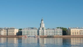 Kunstkammer and the Neva river in the summer sunny day Stock Photography