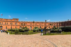 St. Petersburg, Russia - June 04.2017. Military History Museum of Artillery, Engineer and Signal Corps Stock Photography