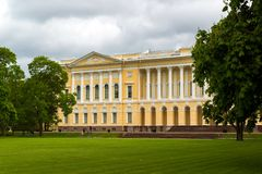 St. Petersburg, Russia - June 2 2017. Northern facade of Michaels palace, building of State Russian museum. Stock Photos