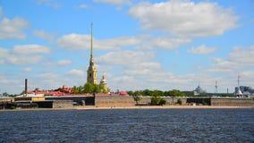 St. Petersburg, Russia - June 03. 2017. Peter and Paul Fortress and river Neva. St. Petersburg, Russia - June 03. 2017. Peter and Paul Fortress and a river Neva stock footage