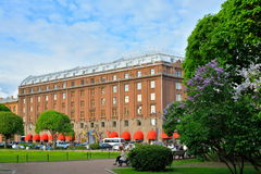 Astoria hotel on St. Isaac's square in Saint-Petersburg Royalty Free Stock Images