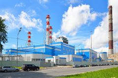 New Central thermoelectric power plant on Rybinskaya street in S Stock Photo
