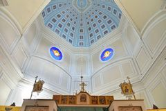 The icons on the dome of the chapel of the Holy Trinity in Gatchina Palace stock photos