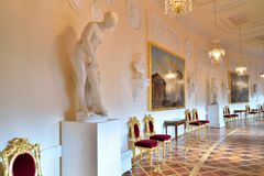 The interior of the Greek hall in the spring of the Gatchina Pal Royalty Free Stock Images