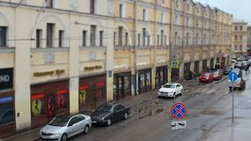 Narrow streets St. Petersburg time lapse stock footage