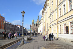 Griboyedov Canal Embankment Royalty Free Stock Image