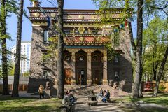 Petersburg, Russia, May 2019; Buddha temple, Buddhist datsan and its Central courtyard. the concept of peaceful religion royalty free stock photo
