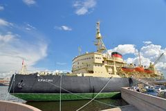Views of the Board the icebreaker Krasin from the Lieutenant Sch Royalty Free Stock Photography
