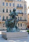 ST petersburg russia Monument till den ryska Tsar-snickare för kejsarePeter I ` `en, Arkivbilder