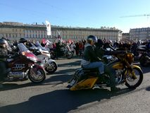 St. Petersburg, Russia - 09.29.2018: Motofestival at the Palace Square, closing of the motor season royalty free stock photo