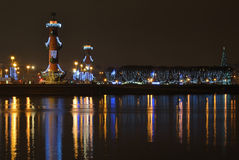 St. Petersburg, Russia at night Royalty Free Stock Images