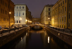 St. Petersburg, Russia, at night Royalty Free Stock Photo