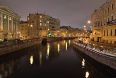 St. Petersburg, Russia, at night Stock Images