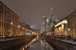 St-Petersburg, Russia at night. Royalty Free Stock Image