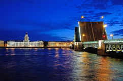 St. Petersburg, Russia at night Royalty Free Stock Image