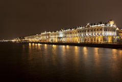 St. Petersburg, Russia. Night Hermitage Stock Photography