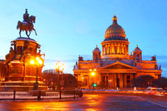 St. Petersburg. Russia.Night view.St. Isaac Royalty Free Stock Photography