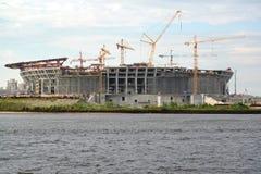ST petersburg Russia nowy budowy stadium Obraz Stock
