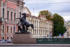 Nevsky Prospect in St. Petersburg, Russia Royalty Free Stock Images