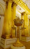Interior of Hermitage Palace in St Petersburg. St Petersburg, Russia - Oct 8, 2016. Interior of Hermitage Museum Winter Palace in Saint Petersburg, Russia Royalty Free Stock Photos
