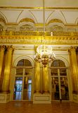 Interior of Hermitage Palace in St Petersburg. St Petersburg, Russia - Oct 8, 2016. Interior of the State Hermitage Museum in Saint Petersburg, Russia. Hermitage Royalty Free Stock Photo