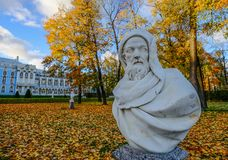 Marble statue at Catherine Palace stock images