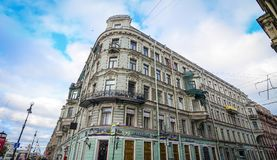 Nevsky Prospect in St. Petersburg, Russia Royalty Free Stock Photography