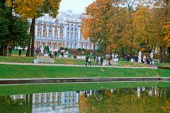 ST. PETERSBURG, RUSSIA - OCTOBER 02: Indian Summer In Pushkin,RUSSIA - OCTOBER 02 2016. Royalty Free Stock Image