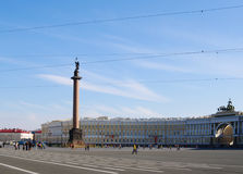 St.Petersburg, Russia - October 7, 2014: Dvortcovaya (Palace) square Stock Photo