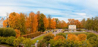ST. PETERSBURG, RUSSIA - OCTOBER 02: Indian summer in Pushkin,RUSSIA - OCTOBER 02 2016. Royalty Free Stock Photo