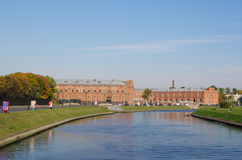 St.Petersburg, Russia - October 7, 2014:  Kronverksky channel of Neva, view of Military-historical Museum Royalty Free Stock Photography
