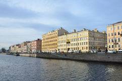 St. Petersburg, Russia, October, 25,2014, Nobody, cars on the embankment, of Griboyedov canal in autumn Royalty Free Stock Photo