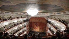 Interior of Mikhailovsky theater in St. Petersburg, Russia stock footage