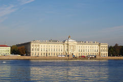 St.Petersburg, Russia - October 7, 2014: views from  Neva river  Academy of fine arts Stock Photography
